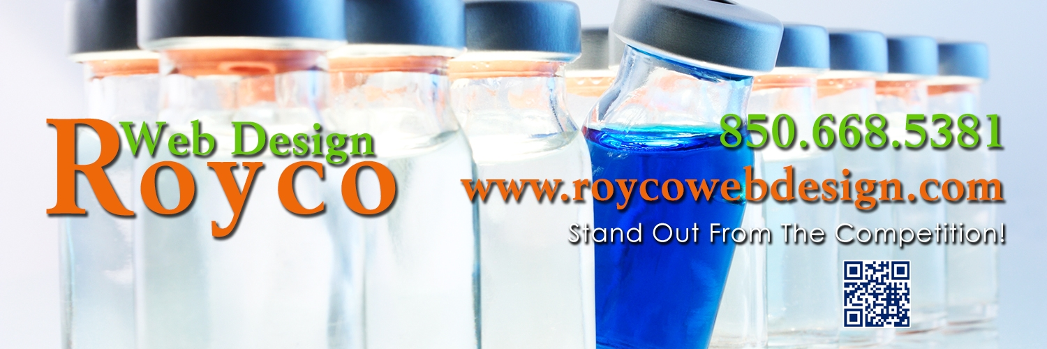 Royco Web Design is a Tallahassee website design company providing Responsive Mobile Friendly Website Design, PHP/MySQL Database Websites, Ecommerce Website Design, Content Management Systems, Website Maintenance, Search Engine Optimization, UNIX Website Hosting, Shopping Cart Solutions, Logo Design, Domain Name Registration and more