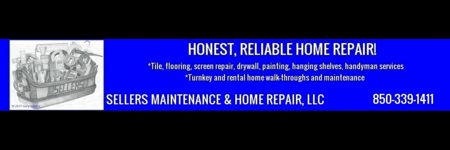 Honest, reliable home repair!  Veteran-owned, local handyman company.  Insured!  References available.  Call Gary at Sellers Maintenance & Home Repair, LLC: 850-339-1411.