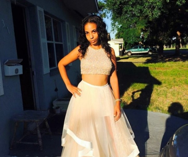 Tan and white two piece prom dress - $100   Clothing and Apparel in ...